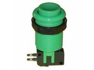 RetroArcade.us Pushbutton with Horizontal Microswitch (GREEN), by Ret