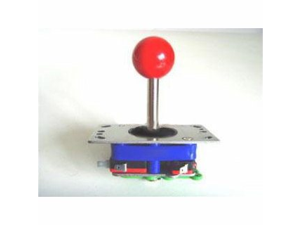 Arcade Joystick Red Ball Design Switchable from 2-way to 4-way to 8-way operation Heavy Duty Joystick