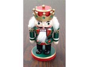 Nutcracker:Chubby  King - Green - with Crown