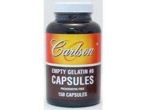 Medium #0 Empty Gelatin Capsule - Carlson Laboratories - 150 - Capsule