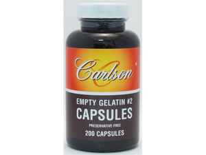 Empty Gelatin Capsule Small #2 - Carlson Laboratories - 200 - Capsule