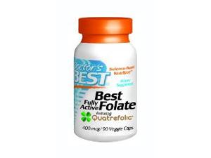 Best Fully Active Folate 400mcg - Doctors Best - 90 - VegCap