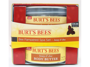 Pampered Spa Set- Honey & Shea- 2 items - Burt's Bees - 1 - Kit