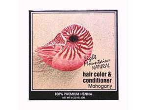 Hair Color & Conditioner- Mahogany - Light Mountain - 4 oz - Powder