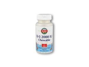 D-3 2000IU - Kal - 200 - Chewable