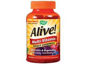 Alive Adult  Multi-Vitamin Gummy - Nature's Way - 90 - Gummy