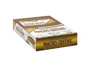 Macro Greens Chocolate Cinnamon - Box - Macrolife Naturals - 12 Bars - Box