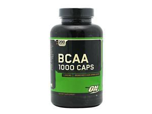 BCAA 1000, Essential Aminos, 200 Capsules, From Optimum