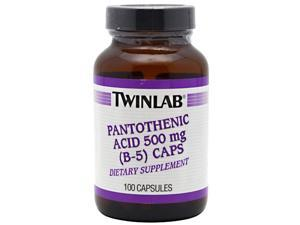 Pantothenic Acid (B-5) 500mg - Twinlab, Inc - 100 - Capsule
