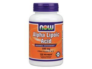 Alpha Lipoic Acid 100mg (with Vit. E & C) - as seen in First - Now Foods - 120 - VegCap