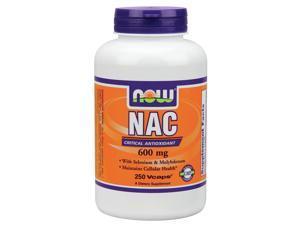 NAC 600 mg N-Acetyl Cysteine, Selenium, Molybdenum - Now Foods - 250 - Capsule