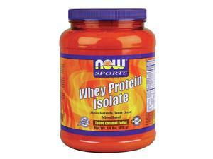 Whey Protein Isolate Toffee Caramel Fudge - Now Foods - 1.8 lbs. - Powder