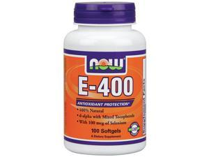 E-400 IU Mixed Tocopherols w/Selenium 100mcg - Now Foods - 100 - Softgel