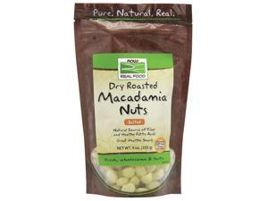 Macadamia Nuts Roasted and Salted - Now Foods - 9 oz - Bag
