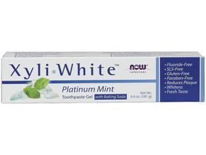 XyliWhite Platinum Baking Soda Toothpaste - Now Foods - 6.4 oz - Tube