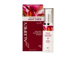 Revitalizing Therapy Night Crme - Dry Skin - Aubrey Organics - 1 oz (30ml) - Cream