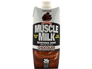 Muscle Milk RTD Chocolate - Case - Cytosport - 17 oz/12 Servings - 1 Case
