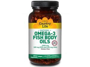 Omega-3 1000mg Fish Oil - Country Life - 200 - Softgel