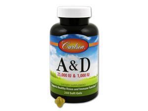 Vitamins A & D 25,000 & 1000 IU - Carlson Laboratories - 250 - Softgel