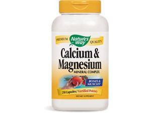 Calcium & Magnesium - Nature's Way - 250 - Capsule