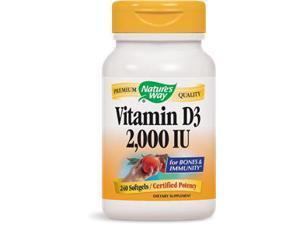 Vitamin D3 2000 IU - Nature's Way - 240 - Softgel