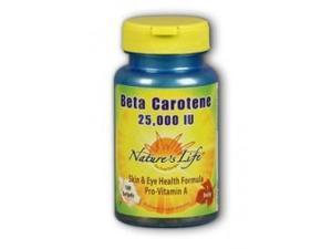 Beta Carotene 25,000 IU - Nature's Life - 100 - Softgel