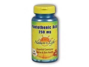 Pantothenic Acid 250mg - Vegetarian - Nature's Life - 100 - Tablet