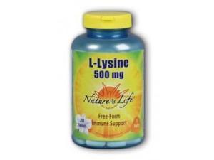 L-Lysine 500mg - Vegetarian - Nature's Life - 250 - Tablet