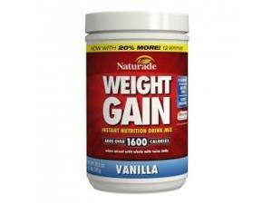 Weight Gain-Vanilla No Sugar - Naturade Products - 18 oz - Powder