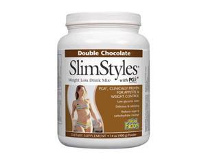 SlimStyles Chocolate Weight Loss Drink Mix with PGX - Natural Factors - 14 oz - Powder