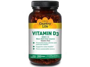 Vitamin D3 5000 IU - Country Life - 200 - Softgel