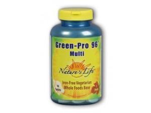 Green Pro-96  Iron-Free/Vegetarian - Nature's Life - 90 - Tablet