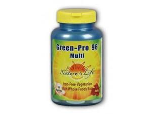 Green Pro-96  Iron-Free/Vegetarian - Nature's Life - 30 - Tablet