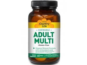 Chewable Adult Multi - Pineapple-Orange - Country Life - 60 - Chewable