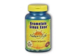 Bromelain Sinus Ease - Vegetarian - Nature's Life - 100 - VegCap