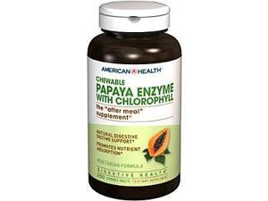 Papaya Enzyme With Chlorophyll - American Health Products - 250 - Chewable