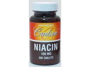 Niacin 100mg - Carlson Laboratories - 300 - Tablet
