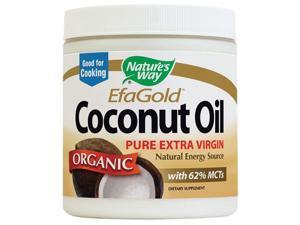 Organic Coconut Oil - Nature's Way - 16 oz - Solid