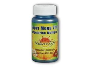 Super Mega-Vite II Multiple - Vegetarian -- Tab/Time - Nature's Life - 30 - Tablet