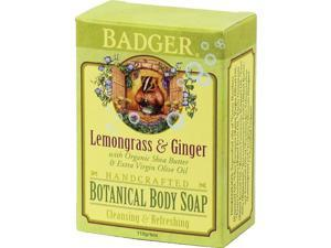 Lemongrass & Ginger Botanical Body Soap - Badger - 4 oz - Bar