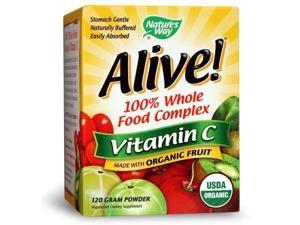 Alive Organic Vitamin C - Nature's Way - 120 g - Powder