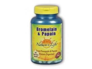 Bromelain/Papain - Vegetarian - Nature's Life - 100 - VegCap