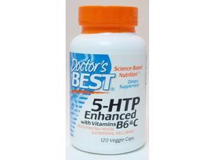 Doctor's Best 5HTP Enhanced with Vitamins B6 and C  120 Capsules