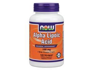 Alpha Lipoic Acid 100mg With E & C - Now Foods - 120 - VegCap