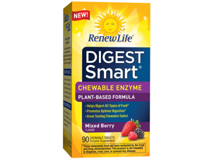Digest Smart Mixed Berry - Renew Life - 90 - Chewable