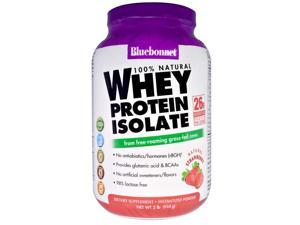 Whey Protein Isolate Strawberry - Bluebonnet - 2 lbs - Powder