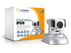 Compro IP570 1.3Megapixe/HD/H.264 IP Network Camera, Pan/Tilt,12X optical Zoom & 10x digital Zoom,2 Way Audio, Day/Night ...