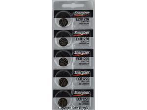 Energizer Battery CR1220 Lithium 3V (5 Batteries Per Pack)
