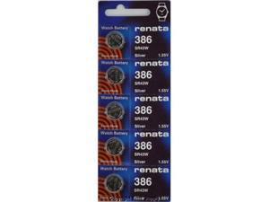Renata Battery 386 SR43W Silver 1.55v (5 Batteries Per Pack)