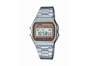 Casio #A158WEA-9 Men's Metal Band Classic Digital Bracelet Watch